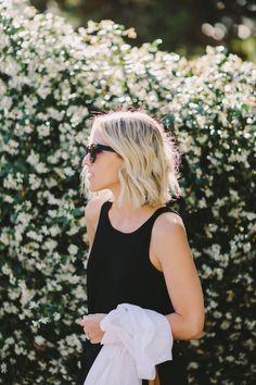 cutest blonde blunt bob | @kinzielynmadsen