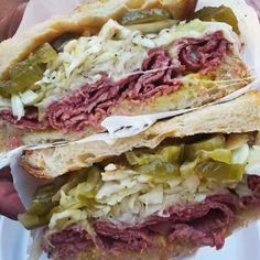 Corned Beef & Swiss Sandwich - The Brick Market and Deli in Pomona, CA