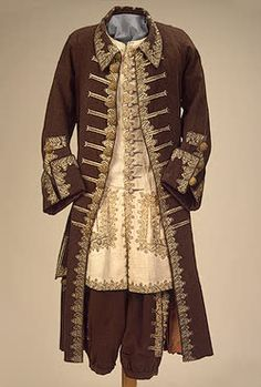 Ceremonial Costume of Peter I   Wardrobe of Peter I   Berlin   Germany. 1720s  Broadcloth, silk, metal thread, linen and wool; embroidery. L.: caftan 114, trousers 76, camisole 90 cm   Source of Entry:  State Museum of Ethnography of the Peoples of the USSR, Leningrad. 1941