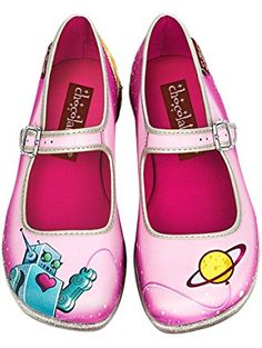 Hot Chocolate Design Chocolaticas Space Women's Mary Jane Flat Multicoloured US Size: 8 ❤ ...