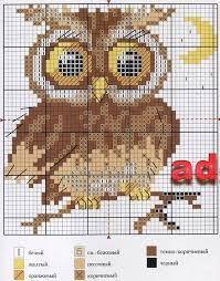Resultado de imagem para graficos em ponto cruz de corujas
