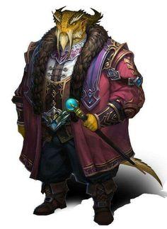 Elderly rich dragon man