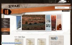 Nice use of imagery as design element : for Utah travel