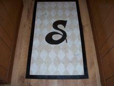 Monogram Floor Cloth! LOVE IT!