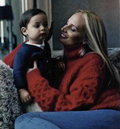 Lauren and her little boy- love this
