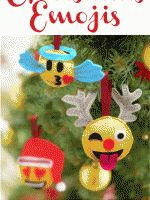 christmas emojis sewing project for kids