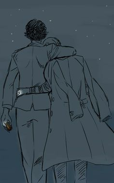 This is probably one of my most favourite illustrations I've ever seen for johnlock  Awhh ^_^