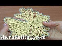 How to Crochet Trim Tutorial 25 Feeform Irish Crochet Tutorial, Irish Crochet Patterns, Crochet Video, Crochet Blanket Patterns, Crochet Designs, Crochet Crafts, Crochet Projects, Crochet Geek, Crochet Braid Styles