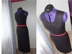 Black Mix Tube Dress