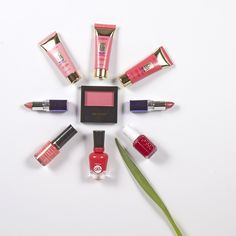 What shades are in bloom this spring? Try all shades red and pink. #MeijerStyle