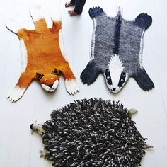 Beautiful Felt Animal Rugs: A Must This Winter for Children's Bedrooms