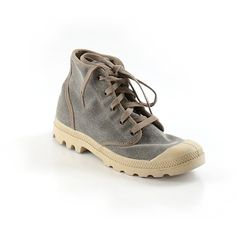 01023c30902 Pre-owned Palladium Sneakers Size 9: Gray Women's Shoes ($24) ❤ liked on  Polyvore featuring shoes, grey, palladium footwear, pre owned shoes, tan  sneakers, ...