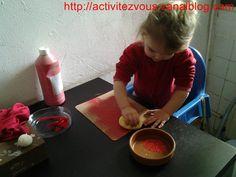 BRICOLAGE: Tableau rouge (chaperon rouge)