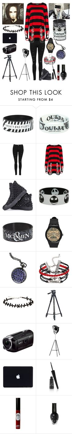 """""""Filming a video with Jack"""" by katlanacross ❤ liked on Polyvore featuring Converse, Sony, e.l.f. and TheBalm"""