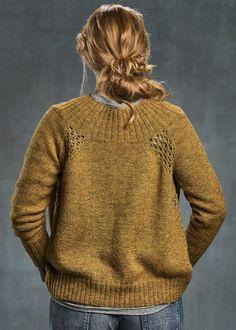 Ravelry: Eyelet cardigan pattern by Sanne Fjalland Knit-Wear Cardigan Pattern, Sweater Cardigan, Cute Sweaters, Knit Sweaters, Cardigans, Knitting Patterns Free, Knitwear, Knit Crochet, Sehun