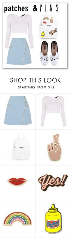 """""""patches & PINS"""" by nurdana13 ❤ liked on Polyvore featuring Karl Lagerfeld, Mansur Gavriel, Georgia Perry, Anya Hindmarch, PINTRILL and patchesandpins"""