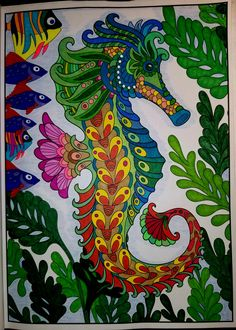 colored with sharpies, color pencil and correction pen (white out) Coloring Book Art, Coloring Pages, Mermaid Pictures, Flower Phone Wallpaper, Z Arts, Colored Pencils, Rooster, Ocean, Quilts