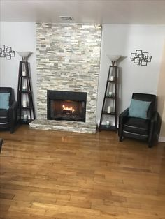 Fireplace wall reno