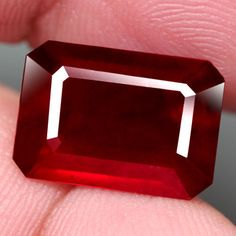 7.82CT.GORGEOUS! OCTAGON FACET TOP BLOOD RED NATURAL RUBY  MADAGASCAR NR! #GEMNATURAL