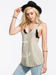 Light Gray Anchor Print Racer Back Vest Top