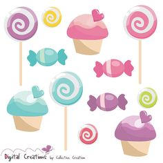 Caramelo dulce Cupcake & Polo Lollypop por CollectiveCreation