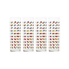 Confetti Glasses - Set of 4   dotandbo.com