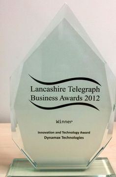 Dynamax wins Lancashire Telegraph Business Awards 2012 for Innovation and Technology