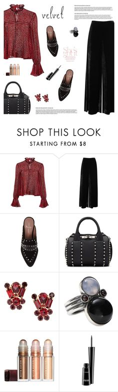 """Velvet"" by aneetaalex ❤ liked on Polyvore featuring Saloni, M Missoni, Linea Paolo, Alexander Wang, Bottega Veneta and MAC Cosmetics"