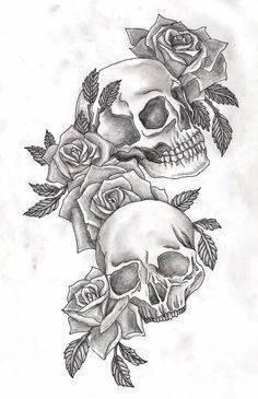 sugar cranium with flowers tattoo - Recherche Google.... >> Discover more at the photo link