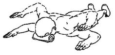 scapular exercises- prone retraction Lie with your upper arms straight out to the sides, elbows bent Pinch shoulder blades together and raise arms level with floor. Keep shoulders down. Hold for 2 seconds, reapeat 10 times. Do 2 sets. Upper Back Exercises, Muscle Imbalance, Hypermobility, Posture Correction, Gym Rat, Improve Yourself, Massage, Pta, Calgary