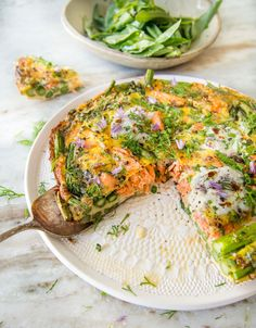 Wild Greens and Sardines : Asparagus and Smoked Salmon Frittata