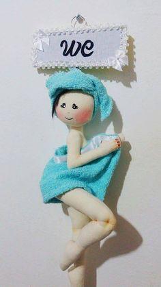 Eu Amo Artesanato: Boneca de banheiro com molde