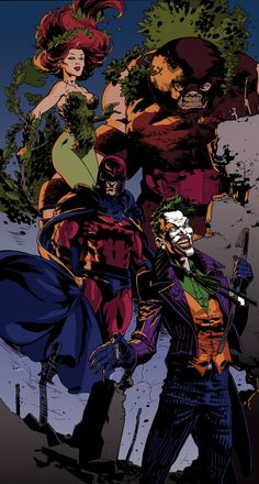 Poison Ivy, The Joker, Magneto and Juggernaut by Andrei Bressan