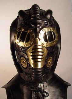 steampunk metallic mask Freaky Steampunk Masks Will Scare Anyone they Face