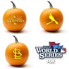 St. Louis Cardinals - Pumpkins - World Series 2013