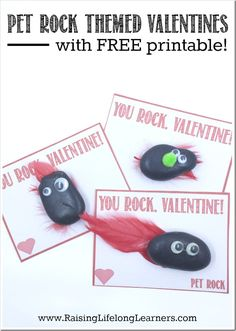 Pet Rock Themed Valentines
