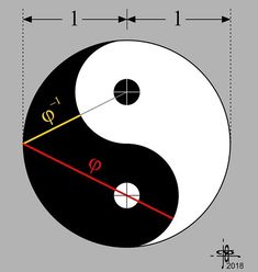 Golden Ratio in Yin-Yang, problem