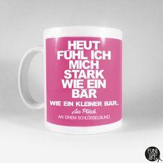 """Becher & Tassen - Spruchtasse """"Bärenstark."""" - ein Designerstück von FUNI-SMART-ART bei DaWanda"""
