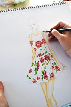 kolay moda tasarım çizimleri - Google'da Ara Dress Sketches, Fashion Sketches, Art Sketches, Art Optical, Flower Dresses, Bff, Design Inspiration, Summer Dresses, Drawings