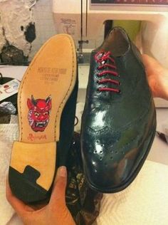 Custom Made Custom Handpainted And Handmade Mens Shoes