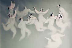 Spanish illustrator Sonia Alins Miguel created the surreal and overwhelming series 'Water women' and 'Into The water'. Miguel's two-part series of drawings show women floating in undefined fluid. Looking at her art works you literally become the observer. It feels like watching struggles for survival, incapable of doing anything.