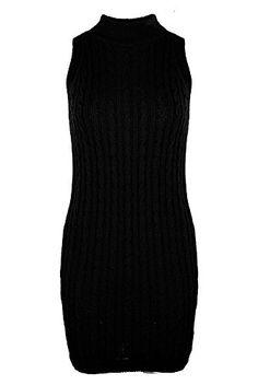 Home of Fashion Turtle Neck Ribbed Knit Sleeveless Mini Bodycon Dress (SM (8-10), Black) The Home of Fashion http://www.amazon.co.uk/dp/B017W663W8/ref=cm_sw_r_pi_dp_YCnrwb08JV5E3