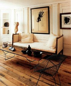 Dimond Chair and Bench from Harry Bertoia
