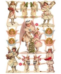Mixed Victorian Snow Angels Scraps ~ Germany ~ New for 2015