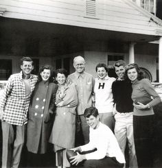 The Kennedy family in Hyannis Port, MA.