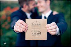 gay marriage invitation wesley vorster / wedding photography #gaywedding / on Toby Designs