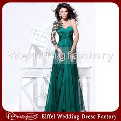 Wholesale Evening Dresses - Buy 2014 New Arrival Tarik Ediz Pleated Chiffon Evening Dress A Line Sweetheart Emerald Green Prom Dresses with ...