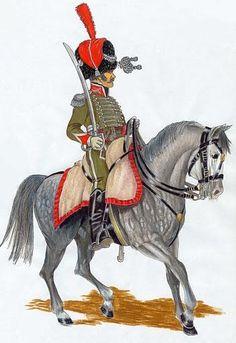 Regno di Spagna - Cazadores de Olivenza 1807 Teniente del 1º escuadron