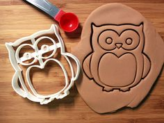 Owl Cookie Cutter Made to order by CookieParlor on Etsy