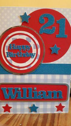 21st male birthday card
